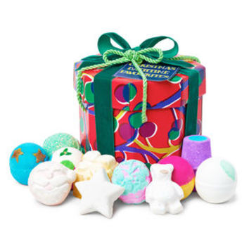 Christmas Bathtime Favorites Wrapped Gift