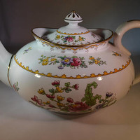 Antique COPELAND SPODE teapot Peplow design made for Harrods 1910 excellent condition/ ships worldwide