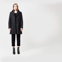 Meier Minimal Wool Coat | The Arrivals