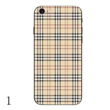 burberry fashion print iphone phone cover case for iphone 6 6s 6plus 6s plus 7 7plus1
