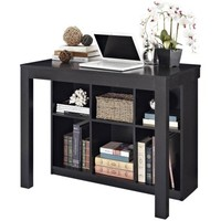 Altra Furniture Parsons Style Desk with Drawer and Bookcase, Black Oak - Walmart.com