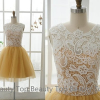 Lace Tulle Prom Dress Ball Gown Tulle Lace Dress Sweetheart Dress Lace Wedding dress Lace Brideasmaid Dresse Graduation Dress