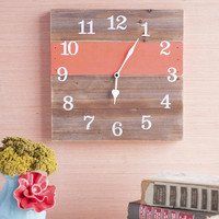 Coral Wooden Wall Clock