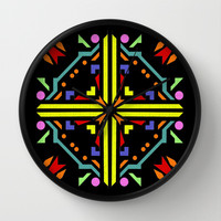 jigsaw black background Wall Clock by Antoine's  Vision