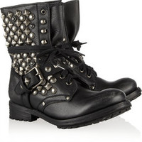ASH Ryanna embellished leather boots – 49% at THE OUTNET.COM