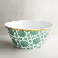 Chinoiserie Turquoise Melamine Serving Bowl