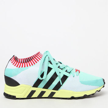 adidas EQT Support RF Primeknit Green and Black Shoes at PacSun.com
