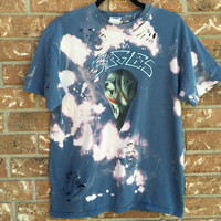 Bleached, tie dyed unisex Eagles shirt size medium ...one of a kind t shirt