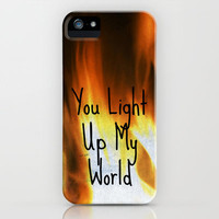 You Light Up My World iPhone Case by Shawn Terry King | Society6
