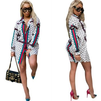 GUCCI Women Long Sleeve Shirt Dress