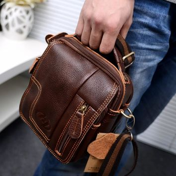 Leather Vintage Messenger Bag