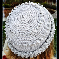 Knit Cap or Hat, Silver and Gray with Sparkle Detail, gift