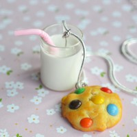 Milk and Cookie Necklace