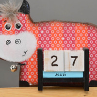Handmade calendar for kids stylish table decor beautiful cow figurine