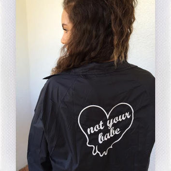 NOT YOUR BABE BOMBER- BLK