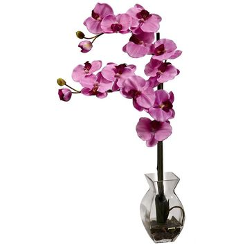 Artificial Flowers -Phalaenopsis Orchid With Vase No2 Silk Plant