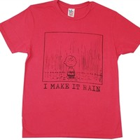Peanuts Charlie Brown I MAKE IT RAIN Shirt by Junk Food available for sale online from Old School Tees