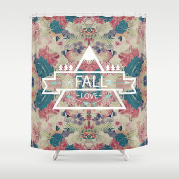 FALL LOVE Shower Curtain by Nika