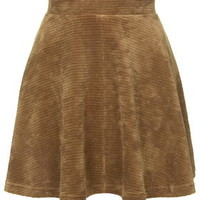 Cord Flippy Skirt - Camel