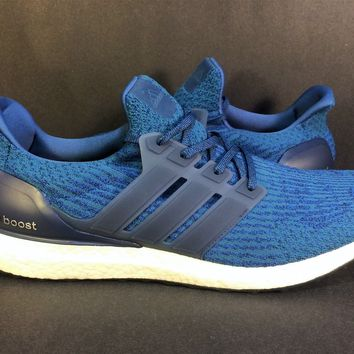 Adidas Ultra Boost 3.0 Mystery Core Blue 2017 BA8844 Men's Size 15 No Box Royal