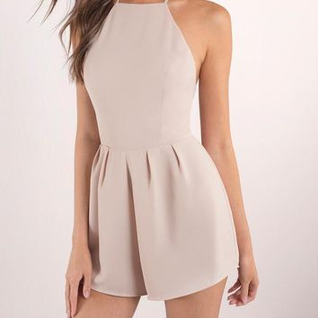 Just Hanging Out Halter Romper w/Fitted Bodice