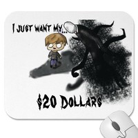 Slenderman Pewdiepie Mousepad from Zazzle.com