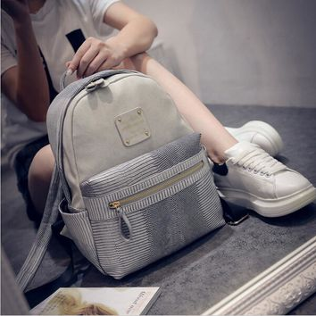 Backpacks PU Leather School