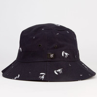 City Fellaz All Over Mens Bucket Hat Navy One Size For Men 23269421001
