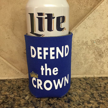 Funny beverage cooler - beer kozy - Kansas City royals gear - can cooler - custom can coolers - gift for dad - beer gifts - gift for hubby