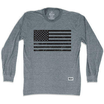 American Black Flag Soccer Long Sleeve T-Shirt