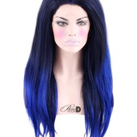 Blue Suede lace Front Wig - Powder Room D