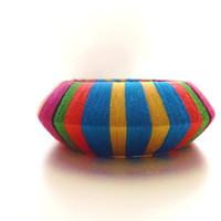 Cotton Thread Wrap Colorful Bangle