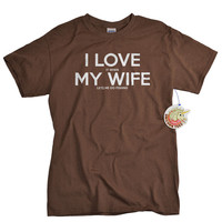 I love my wife t shirt I love it when my wife lets me go fishing funny fisherman fishing tshirt gift for men husband fiance father