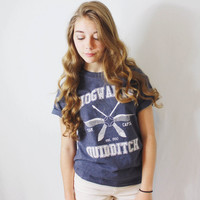 Harry Potter Clothing Heather Navy Quidditch Team Captain Tshirt