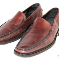 COLE HAAN Nike Air Loafers Slip on Brown Mens Dress Leather Shoes Size 11 M