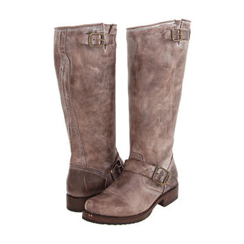 Frye Veronica Slouch Slate Burnished Antiqued Leather - 6pm.com