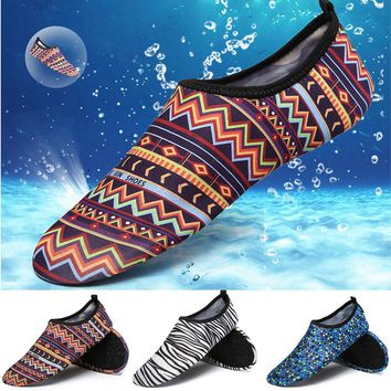 2017 Unisex Men Women Aqua Shoes Quickly-dry Summer Footwear Barefoot Skin Shoes Lightweight Breathable Swimming Water Shoes #E0