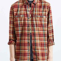Stapleford Frisco Plaid Flannel Button-Down Shirt- Red