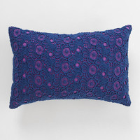 Plum & Bow Contrast Lace Pillow