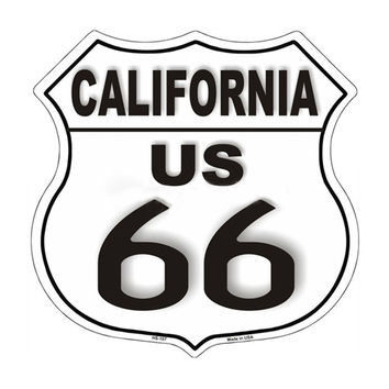 "SmartBlonde 11"""" Lightweight Durable HS-102 Route 66 California Metal Novelty Highway Sign"