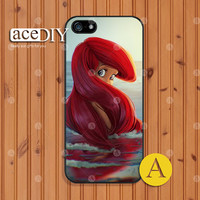 Ariel, Disney, Phone cases, iPhone 5 case, iPhone 5s case, iPhone 4 case, iPhone 4s case, Little Mermaid, Case for iPhone, Skins--A50855