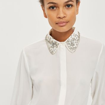 Embellished Collar Shirt
