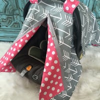 Carseat canopy Grey Arrow  SO CUTE