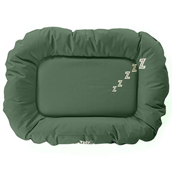 The Dog's Bed, Premium M/L/XL Waterproof Dog & Puppy Beds in Green, Finest Quality, Strong & Durable Oxford Material, True Size Medium, Machine Washable Cover, Tough Industrial Zipper, Heavy Duty Bed