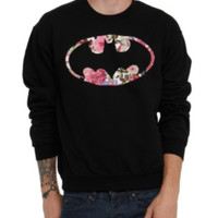 DC Comics Batman Floral Crewneck Sweatshirt