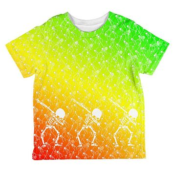 Cinco De Mayo Dancing Dabbing Skeletons All Over Toddler T Shirt
