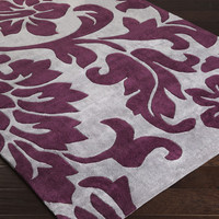 Cosmopolitan Area Rug | Purple Medallion and Damasks Rugs Hand Tufted | Style COS9195