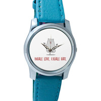 Inhale Love Exhale Hate | Quirky Wrist Watch