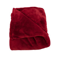 Elaine Burgundy Cashmere Plush Throw