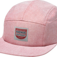 Diamond The Port 5 Panel Camp Hat Red&White Chambray